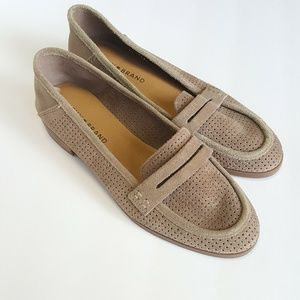 Lucky Brand Brown Taupe Suede Loafers Size 7 NEW